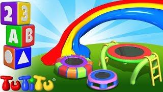TuTiTu Englisch Lernen | Farben lernen auf Englisch für Kinder | Trampolin