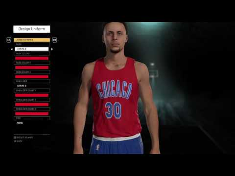 NBA 2K16 Chicago Bulls 2005 Throwback Chicago Stags Jersey Tutorial