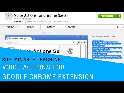 Voice Actions for Google Chrome Extension - YouTube