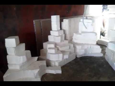 Assembling Foam Blocks For Fake Rock Mini Golf Props Youtube