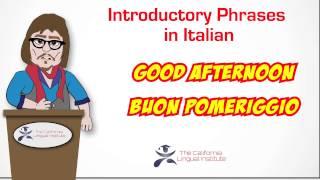 Online Italian Lessons via Skype - California Lingual Institute