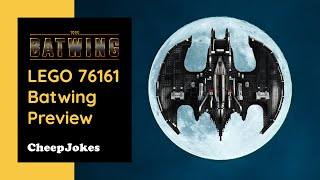 LEGO 76161 - 1989 Batwing | Preview and Review | CheepJokes