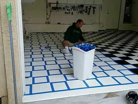 Painting And Checker Boarding Tape Youtube