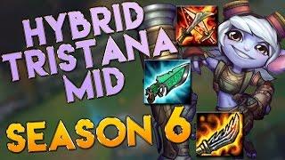 AP/Hybrid Tristana Mid Season 6 Gameplay - League of Legends LoL Tristana Season 6