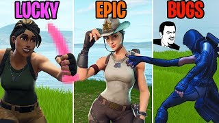 NOODLE ARM GLITCH?! LUCKY vs EPIC vs BUGS - Fortnite Battle Royale Funny Moments