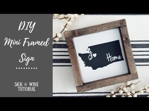DIY Painted Mini Framed Sign