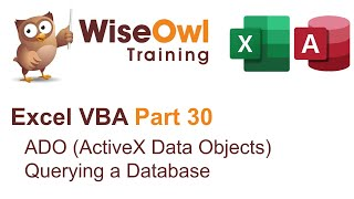 Excel VBA Introduction Part 30 - ADO (ActiveX Data Objects) Querying a Database