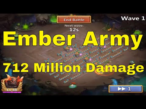 Castle Clash Ember Army 712 Million Damage