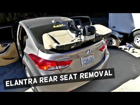 HOW TO REMOVE THE REAR SEAT ON HYUNDAI ELANTRA
