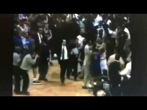 P.J. Brown flips Charlie Ward- NBA Fight