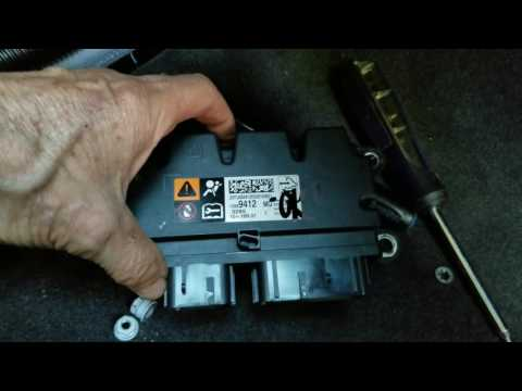 Black Box Location 2016 Chevy Cruze Airbag Control Module Install