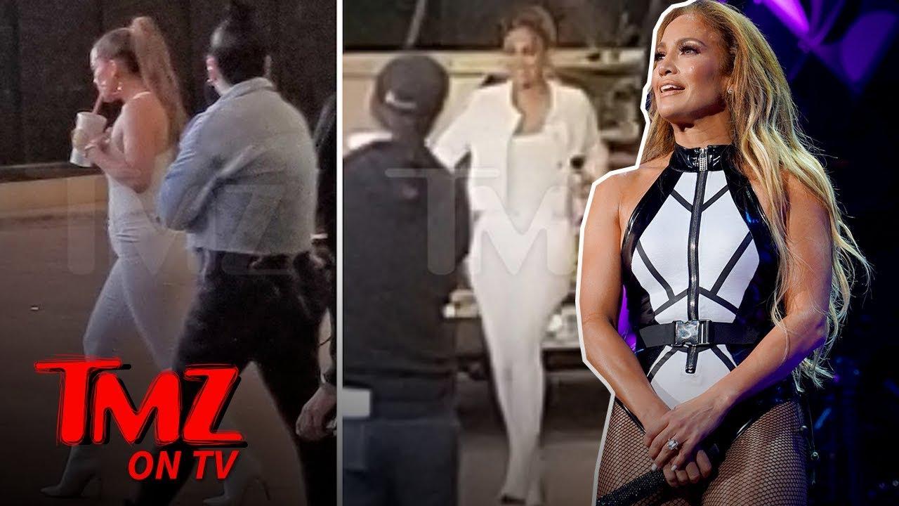 Footage of JLo Filming Super Bowl Promo | TMZ TV