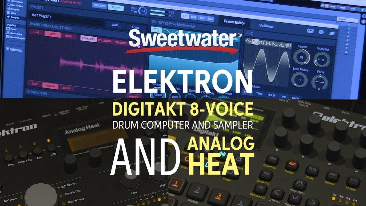 Elektron Digitakt 8 voice Drum Computer/Sampler and Analog