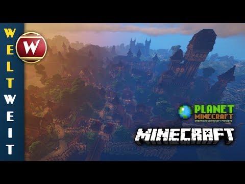 """Die mittelalterliche Stadt """"Sharthur""""    Winthor Weltweit    Minecraft Downloads"""