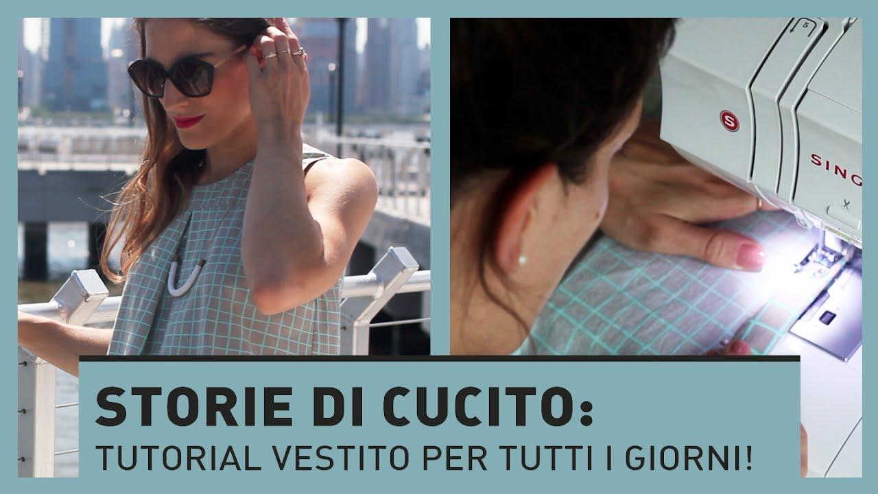 online retailer 06974 61a90 STORIE DI CUCITO: Tutorial vestito SENZA CARTAMODELLO! (DIY)