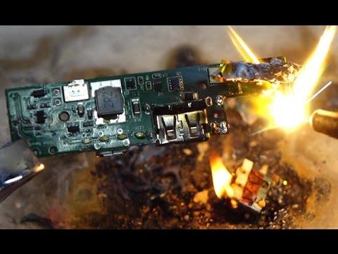 disassembling burning a battery bank youtube. Black Bedroom Furniture Sets. Home Design Ideas