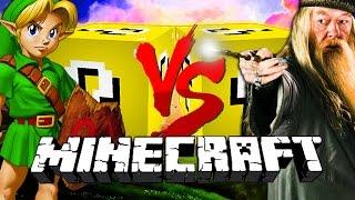 Minecraft: LINK LUCKY BLOCK CHALLENGE | Dumbledore vs Link