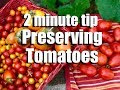 Tomatoes 2 Quick Ways To Preserve Lots Of Tomatoes Freezing Oven Drying CaliKim 2 Minute Tip mp3