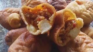 Пирожки на дрожжевом-заварном тесте!БЫСТРО и ВКУСНО!Pies made of yeast - brewed dough!