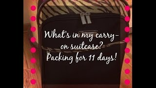 What's in my suitcase? How to pack for over a week in a carry on bag Thumbnail