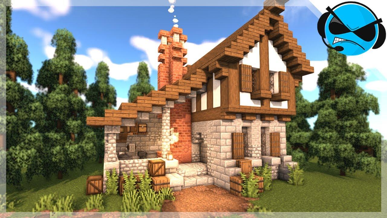 Minecraft How To Build A Medieval Blacksmith Minecraft Build Tutorial Youtube