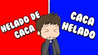 EAT CACA OR ICE CAICE? Roblox Would You Rather in Spanish