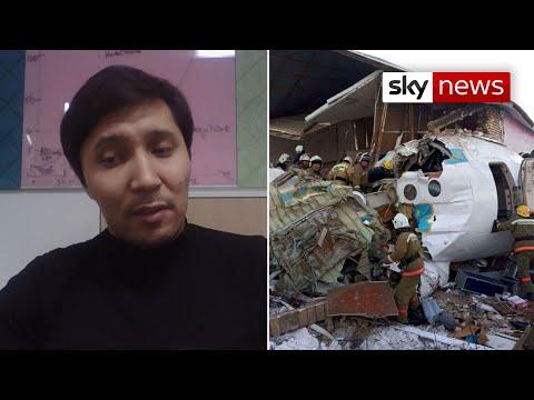 Kazakhstan plane crash survivor: aircraft crushed 'like a tin can'