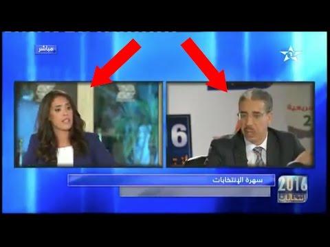 عزيز الرباح يقمع صحفية عبيطة للقناة الأولى على المباشر aziz rabbah vs une journaliste
