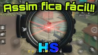MELHOR CONFIGURAÇÃO PARA O HS | FREE FIRE DICAS