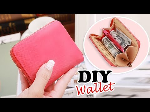 DIY PURSE WALLET TUTORIAL // Cute Red Zipper Pouch