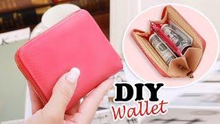 DIY PURSE WALLET TUTORIAL // Cute Red Zipper Pouch