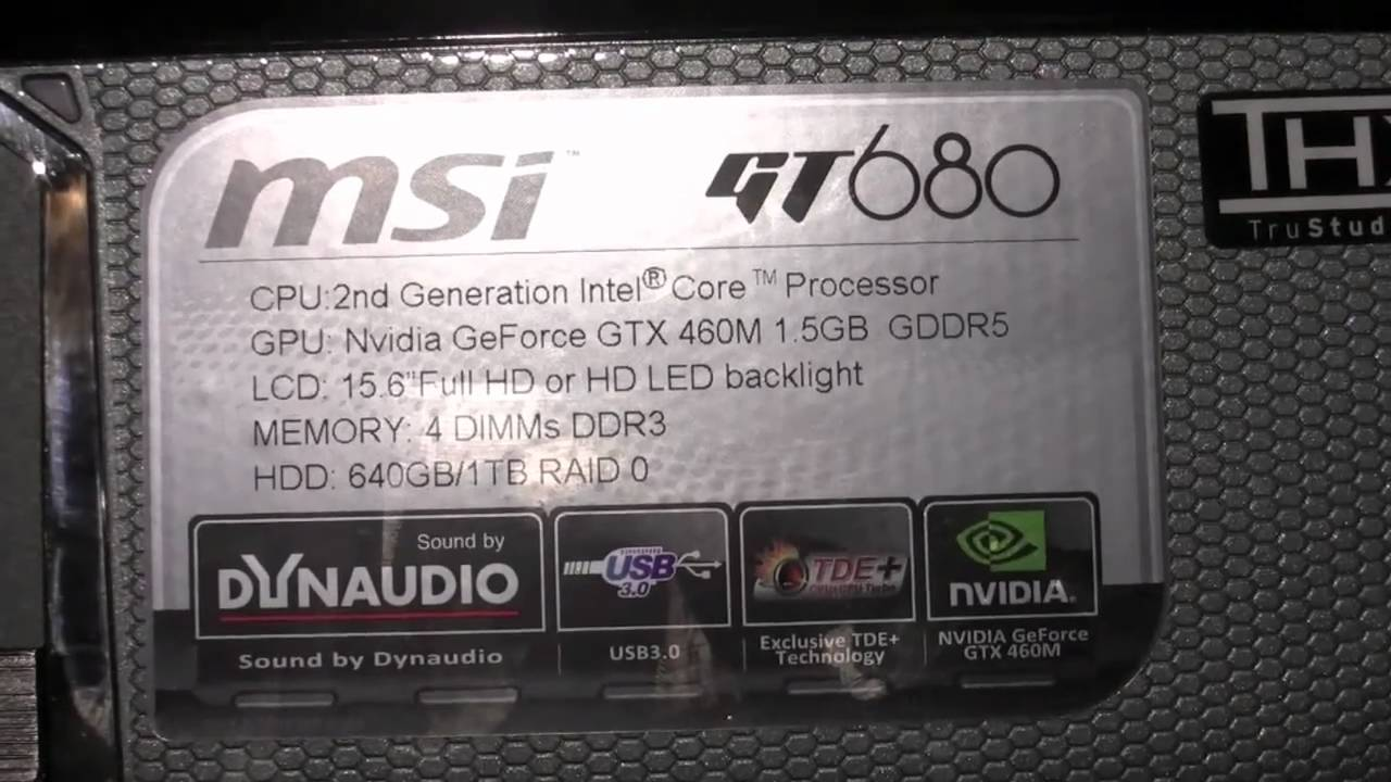 CES 2011 - MSI GT680 Gaming Laptop Release and Spec Overview