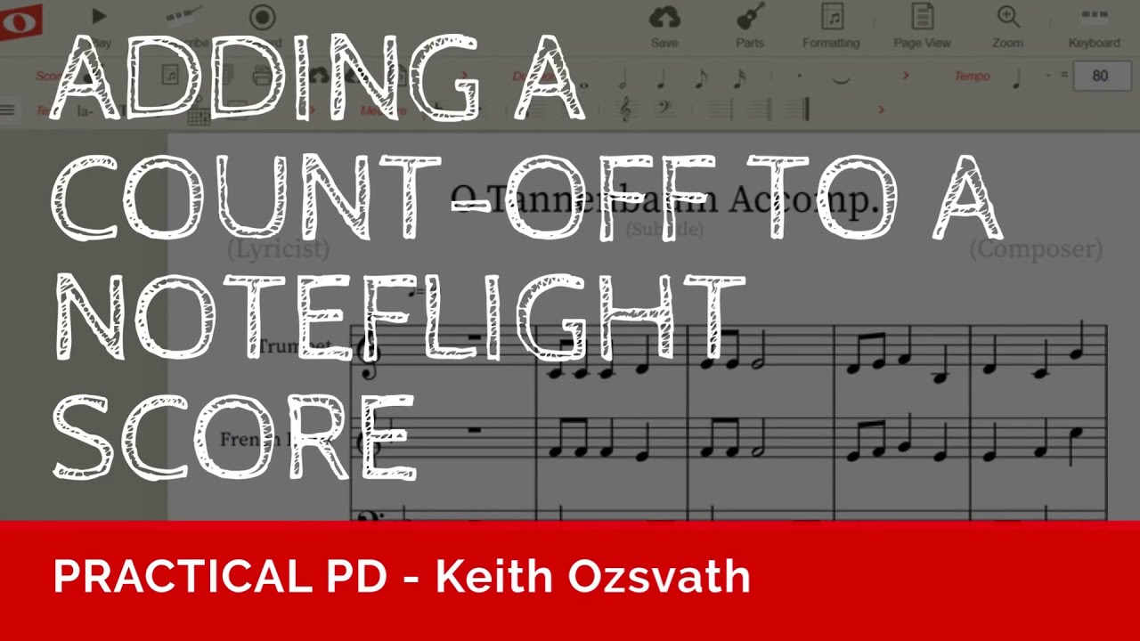 PRACTICAL PD - Adding a Count-Off to a Noteflight Score