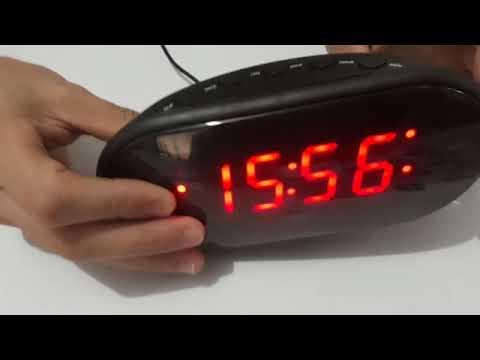 6f17dbbd7cf Radio Relógio Despertador Digital LED Elétrico De Mesa cabeceira Am ...