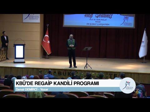 KBÜ'DE REGAİP KANDİLİ PROGRAMI