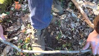 Bushcraft - How To Make Fire With A Knife And A Shoe Lace (part 1) Bow & Drill - Prep W/ Victorinox