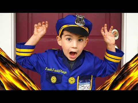 Costume Pretend Play Police and Scientist Floor is Lava Skits + Jack Jack's Birthday