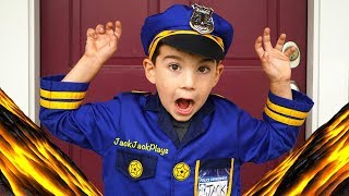 Costume Pretend Play Police and Scientist Floor is Lava Skits + Jack Jack's Birthday