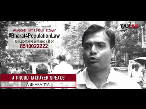 A proud taxpayer is supporting Bharat4PopulationLaw Are you ? Mission Population Control