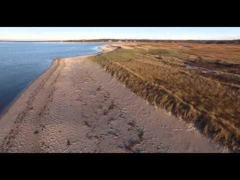 Brewster, Cape Cod Bay Aerial (4k Video)
