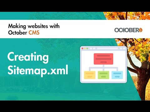 making websites with october cms part 38 creating sitemap xml