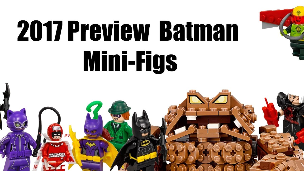 Lego Batman Movie Mini-Figs Sets Clayface, Catwoman and ...