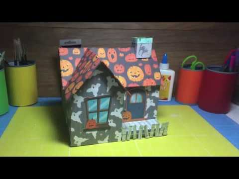 How To Make a Paper/Cardboard Spooky Halloween Haunted House Decoration