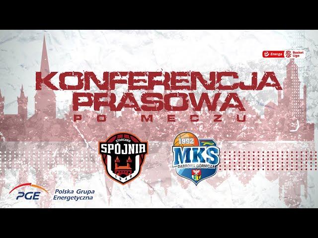 Konferencja prasowa po meczu PGE Spójnia Stargard - MKS Dąbrowa Górnicza