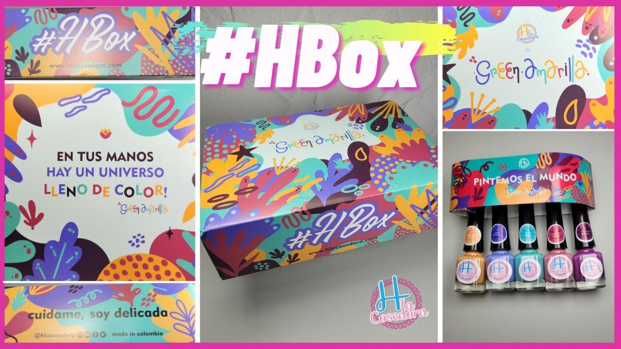 H la Cosedora HBox GreenAmarilla Nail Art Stamping Plate Unboxing