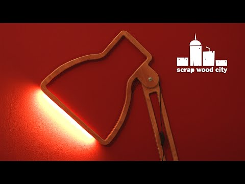Diy Wooden Wall Lamps : DIY creative wall lamp with led strip out of plywood - YouTube