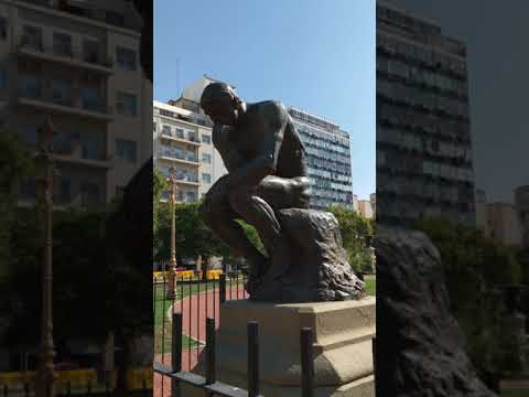 Rodin's Thinker, Congressional Plaza, Buenos Aires, Argentina, 2018-02-05