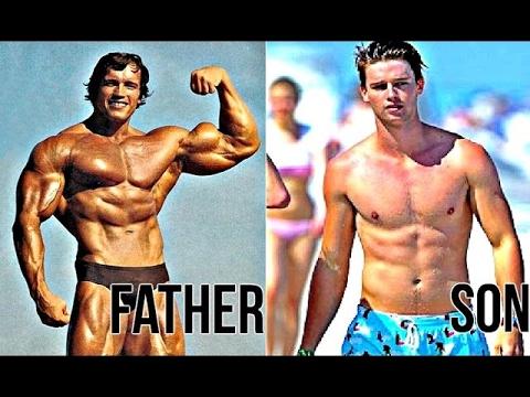 Arnold Schwarzenegger & his son [Golden Genetics] - YouTube