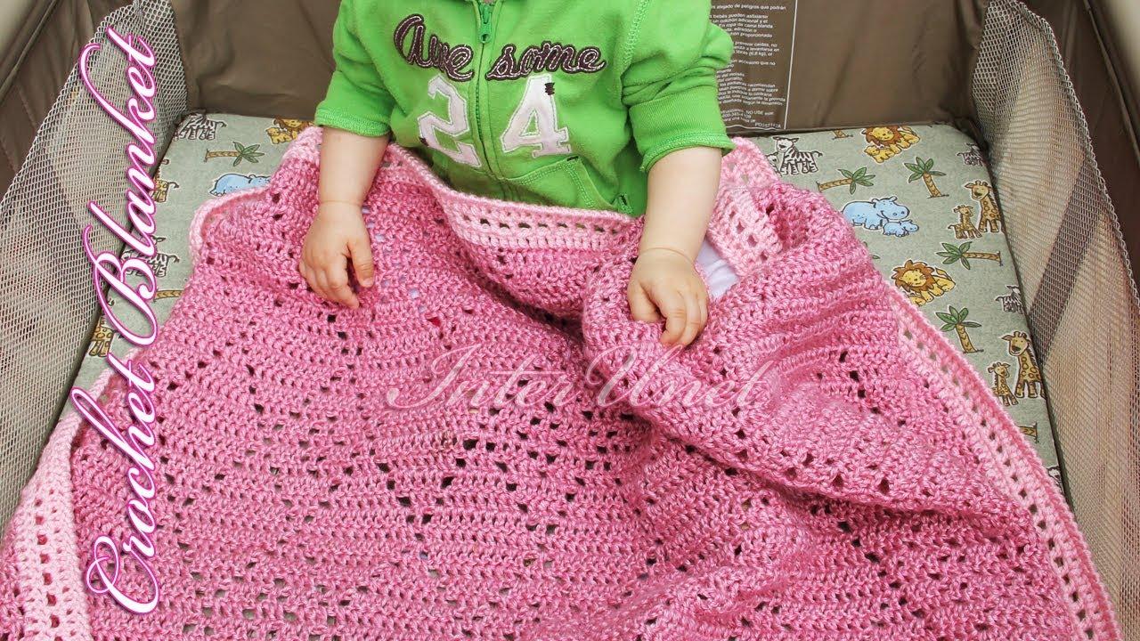 Pink Baby Blanket Diamond Stitch Blanket Crochet Pattern