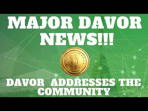 Major update! Davor addresses the community!